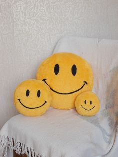 Smiley face pillows