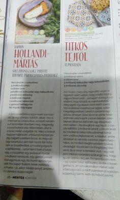 Tejföl ès Hollandi màrtàs recept