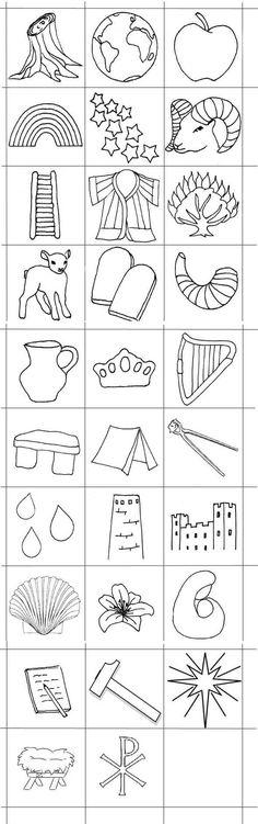 jesse tree symbols clipart