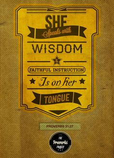 Proverbs 31:27. The Proverbs Typography Project by Michael Masinga. #typography