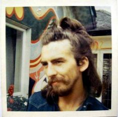 Polaroid of George Harrison. Good link to site of fans meeting Beatles.
