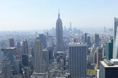 Midtown and lower Manhattan from top of the rock!