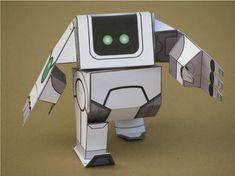 Sweet Robot by Josh Buczynski #papertoy #robot #white