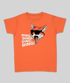 Orange 'Ring-Ding-Ding' Tee