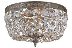 Richmond 2-Light Flush Mount, Bronze on OneKingsLane.com