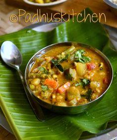 Mixed Vegetable Kootu-South Indian Vegetable Kootu-Kadamba Kootu-Side ...