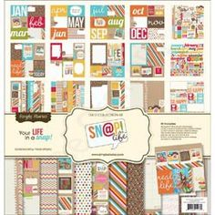 SIMPLE STORIES-Sn@p Life Collection Kit. This collection kit contains six 12x12 inch sheets of double-sided paper; one 12x12 inch sheet of Fundamentals cardstock stickers; one 12x12 inch sheet of Expressions cardstock stickers; thirty double-sided cut-apart element pieces in various sizes; and six bonus 4x6 inch transparency photo overlays that are exclusive to this kit. Price €20,99