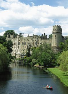 Warwick Castle is a medieval castle developed from an original built by William the Conqueror in 1068. Warwick is the county town of Warwickshire, England, situated on a bend of the River Avon.
