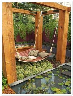 24 beautiful side yard and backyard gravel garden design ideas 23 Backyard Hammock, Ponds Backyard, Backyard Landscaping, Backyard Ideas, Landscaping Ideas, Pergola Ideas, Garden Ideas, Pergola Kits, Hammock Ideas