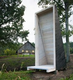 during the summer of 2016, three architects were invited to present and build a meditation shelter next to a swamp during 'the human birdhouse workshop'.