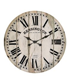 Another great find on #zulily! Vintage Wall Clock by VIP International #zulilyfinds
