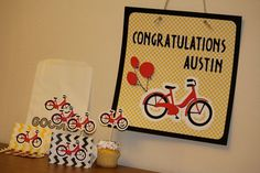 These Retro Bike cupcake toppers will be the envy of an adult party or super cute for a child's party!