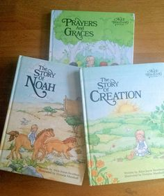 Christian Story Books Set of 3 Creation Noah by YoursOccasionally