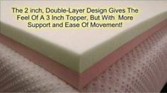 2 inch double layer topper for back pain
