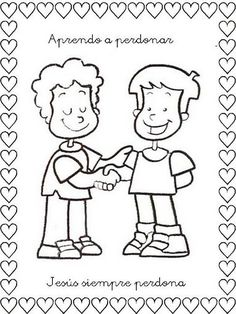 dibujos de niños con ofrendas a Dios | Dibujo de dos niños tomando el ejemplo de…