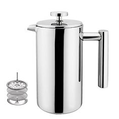Highwin 8-Cup/35-Ounce Double Wall Insulated Stainless Steel French Coffee Press, Durable Coffee Tea Maker with Stainless Steel Plunger > You can find more details here : French Presses