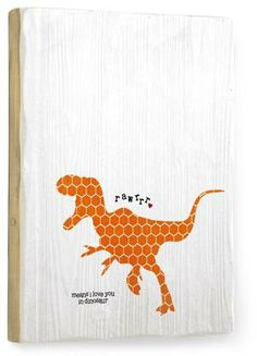 """Rawr means I Love You in dinosaur"" print on wood - Custom Wood Signs - Rawr : Posters and Framed Art Prints Available // customwoodsigns.artehouse.com"