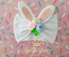 Complement for the girls outfit or costume Cute headband for babies and girls for this easter. Customized sizes and colors Handmade headband Hand wash