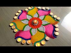 Beautiful Rangoli for Diwali/Deepawali/lakshmi pada FESTIVAL'S rangoli designs Happy Diwali Rangoli, Easy Rangoli Designs Diwali, Simple Rangoli Designs Images, Rangoli Designs Latest, Rangoli Designs Flower, Rangoli Patterns, Rangoli Ideas, Rangoli Designs With Dots, Beautiful Rangoli Designs
