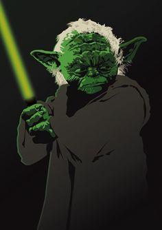 Star War Yoda Jedi Master Art Print