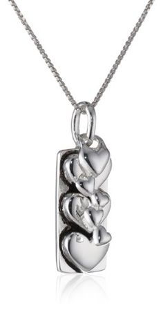 "Sterling Silver \I Love You More"" Two Charm Reversible Necklace"