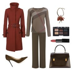 """Fall for Burberry"" by arta13 on Polyvore featuring The Row, Burberry, Jimmy Choo, Hermès, Lanvin and NARS Cosmetics"
