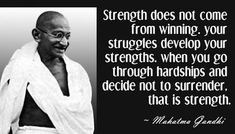 strength surrender gandhi picture quote