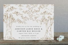 A Poem For The Trees Foil-Pressed Wedding Invitati... | Minted