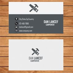 The 22 best business card template images on pinterest business carpenter business card template wajeb Choice Image
