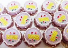 7x Cute Lavender Cake Resin Cabochons by CuteCornwall on Etsy, £2.00