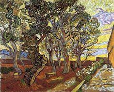 The Garden Of Saint Paul Hospital Vincent Van Gogh Reproduction   1st Art Gallery