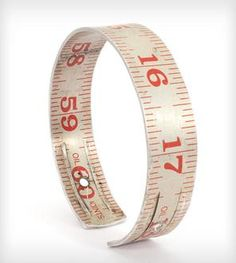 Red Vintage Ruler Bangle