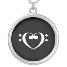 Music Heart Necklace!!!! OMG ITS IN BASS CLEF!