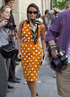 I can see her wearing this to interview someone.