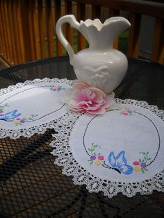 Darling Set of Vintage Linen and Lace Doilies
