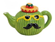 Kaffee- & Teekannen - Kanne Kaktus Mexico aus Keramik - ein Designerstück von ideen-depot bei DaWanda