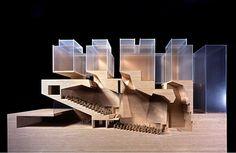 Coupe longitudinale en maquette - Université BOCCONI