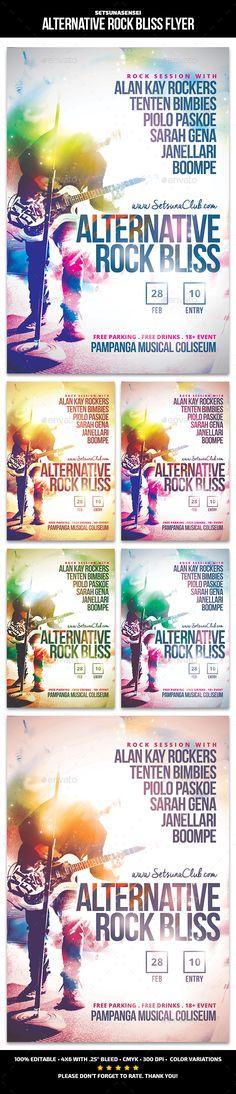 Alternative Rock Bliss Flyer - Concerts Events | Download http://graphicriver.net/item/alternative-rock-bliss-flyer/15353204?ref=sinzo