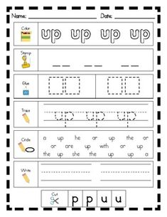 Literacy Center Word Work: 100 Printables for Fry's Sight Words