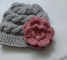 Baby Hat Baby Girl Hat Newborn Hat Photo Prop Baby Knit by Ifonka, $17.00