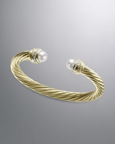 Pearl Crossover Bracelet, 7mm by David Yurman at Neiman Marcus.