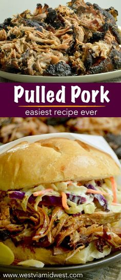 Pulled Pork, one pan all day cooking yields fork tender, pull apart meat that melts in your mouth. Ideal comfort food for all fall entertaining.