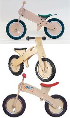 wooden balance bikes