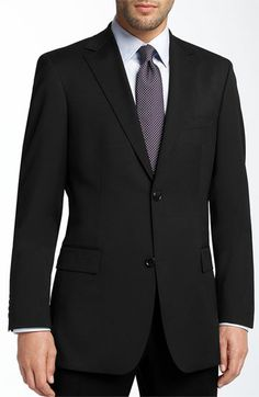BOSS Black 'Pasolini' Black Virgin Wool Sportcoat   Nordstrom