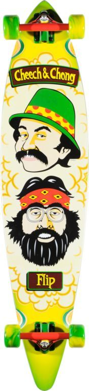 Flip Cheech & Chong 43.5 Pin Tail Longboard Complete #skateboard #zumiez #exclusive