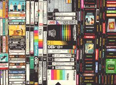 Cassettes, VHS & Atari, permanent marker on paper, 22 1/2 x 30 inches, hbt12-p011, 2012, Private Collection
