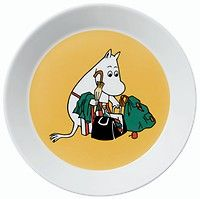 Image of Moomin Plate - Moominmamma apricot from Arabia Finland Porcelain Mugs, Ceramic Plates, Moomin Shop, Classic Plates, Moomin Valley, Tove Jansson, Thousand Islands, Plates And Bowls, Issey Miyake