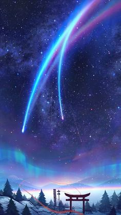 Most Great Aesthetic Anime Wallpaper IPhone kimi no na wa wallpaper phone Anime Backgrounds Wallpapers, Anime Scenery Wallpaper, Animes Wallpapers, Cute Wallpapers, Wallpaper Wallpapers, Pretty Backgrounds, Wallpaper Ideas, Your Name Wallpaper, Galaxy Wallpaper