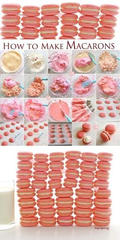 SugaryWinzy How to Make Macarons - French Meringue Method (sweet stuff desserts) Baking Recipes, Cookie Recipes, Dessert Recipes, Cupcake Recipes, Just Desserts, Delicious Desserts, Yummy Food, Pavlova, How To Make Macarons