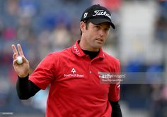 Robert Streb of the United States waves on the 17th hole during the first round of the 144th Open Championship at The Old Course on July 16, 2015 in St Andrews, Scotland.